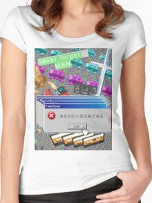 Vaporwave Seapunk much cool Women's Fitted Scoop T-Shirt