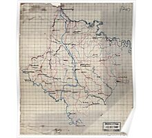 Civil War Maps 0227 Caroline Co Va Poster