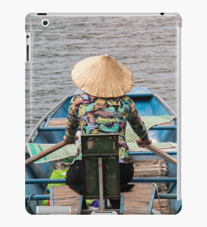 Vietnamese Lady Boat on Ngo Dong River Tam Coc iPad Case/Skin