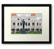 Statue of Ho Chi Minh in Saigon Vietnam Framed Print