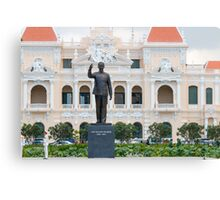 Statue of Ho Chi Minh in Saigon Vietnam Canvas Print