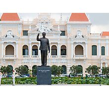 Statue of Ho Chi Minh in Saigon Vietnam Photographic Print