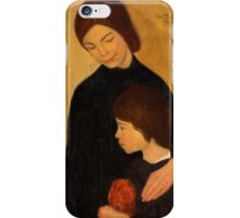 Rolf Trolle - Mother and child  iPhone Case/Skin