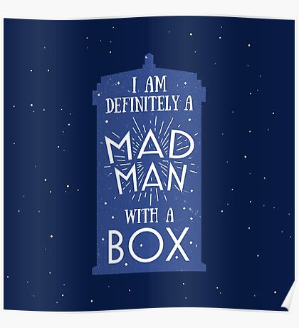 A Mad Man With A Box Poster