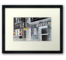 Café Zurich Framed Print