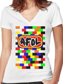 AFOL Women's Fitted V-Neck T-Shirt