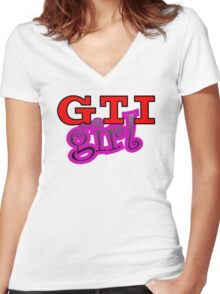GTI Girl Women's Fitted V-Neck T-Shirt
