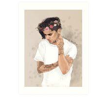 Z floral crown Art Print