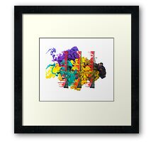 Proud Guns - Multi Colour Gamer Framed Print