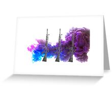 Proud Guns - Purple Gamer Greeting Card