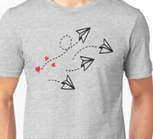 Origami love letter planes Unisex T-Shirt