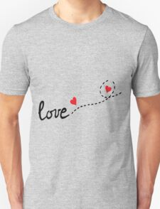 love typo with hearts Unisex T-Shirt