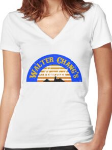Walter Chang's Market Women's Fitted V-Neck T-Shirt
