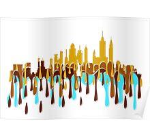New York City, New York skyline YBB Poster