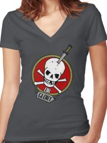Death or Glory Women's Fitted V-Neck T-Shirt