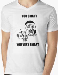 YOU SMART  Mens V-Neck T-Shirt
