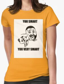 YOU SMART  Womens Fitted T-Shirt