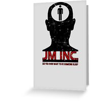 JM Inc. from Being John Malkovich Greeting Card