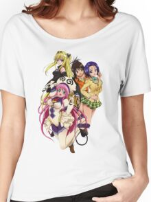 To Love-Ru Lala, Haruna, Yami and Mikan Women's Relaxed Fit T-Shirt