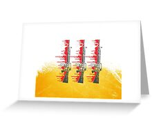 Proud Guns - Yellow Base Gamer Greeting Card