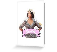 Sassy Kerry Greeting Card
