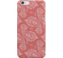 Coral Paisley Aztec Tribal Indian Pattern iPhone Case/Skin