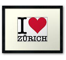 I love Zurich Framed Print