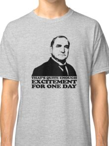 Downton Abbey Carson Excitement Tshirt Classic T-Shirt