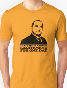 Downton Abbey Carson Excitement Tshirt Unisex T-Shirt