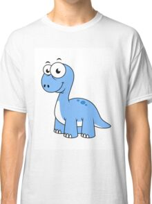 Cute illustration of a Brontosaurus. Classic T-Shirt