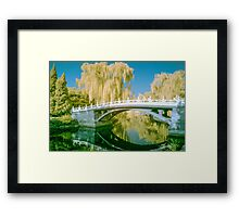 Tranquil Bridge in Infra Red Framed Print