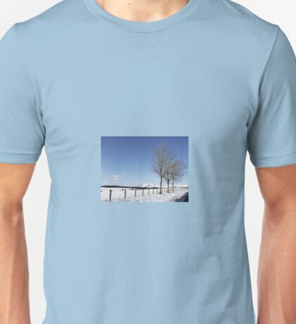 Snow Scene in Cumbria Unisex T-Shirt