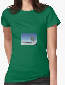 Snow Scene in Cumbria Womens Fitted T-Shirt