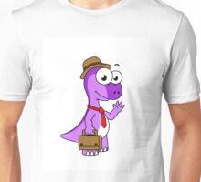 Illustration of a Pachycephalosaurus businessman. Unisex T-Shirt
