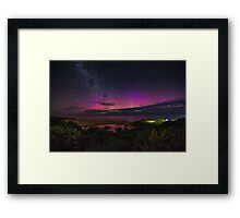 New Years Eve Lightshow Framed Print