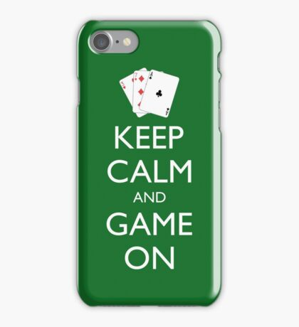 KEEP CALM AND GAME ON - Playing cards iPhone Case/Skin