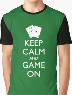 KEEP CALM AND GAME ON - Playing cards Graphic T-Shirt