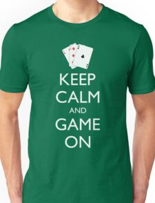 KEEP CALM AND GAME ON - Playing cards Unisex T-Shirt