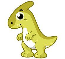 Cute illustration of a Parasaurolophus dinosaur. by StocktrekImages