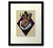 The Fancy Jackalope Framed Print
