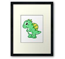 Cute illustration of a Spinosaurus. Framed Print