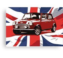 Cool Britannia Austin Mini  Canvas Print