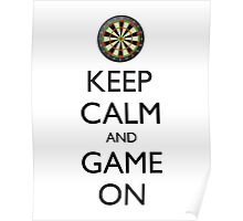 KEEP CALM AND GAME ON - Dart Board Poster