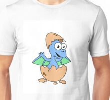Cute illustration of a baby pterodactyl hatching. Unisex T-Shirt