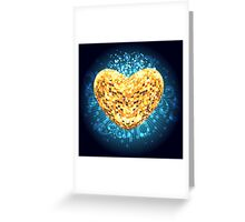 Discoball in shape of heart Greeting Card