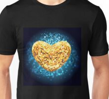 Discoball in shape of heart Unisex T-Shirt