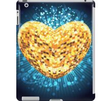 Discoball in shape of heart iPad Case/Skin