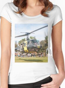 Huey Eagle One Helicopter Women's Fitted Scoop T-Shirt