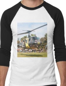 Huey Eagle One Helicopter Men's Baseball ¾ T-Shirt