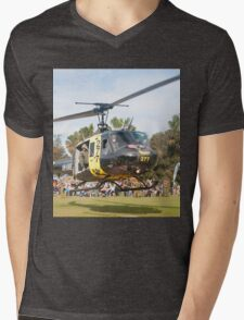 Huey Eagle One Helicopter Mens V-Neck T-Shirt